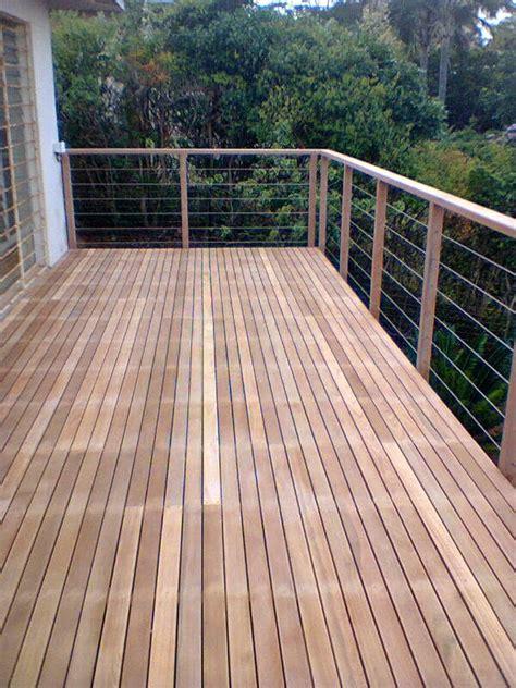 Wooden Balustrade Wooden Balau Sun Decks And Wire Rope Balustrades Durban