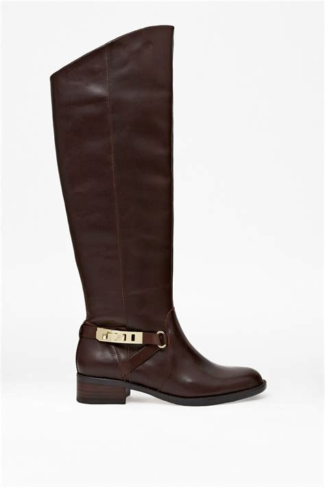 leather boots yolanda knee high leather boots sale connection usa