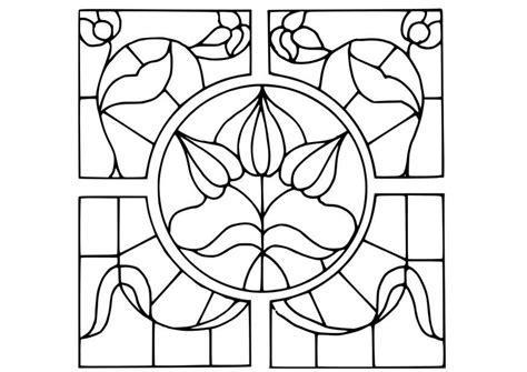 Imagenes Para Pintar En Vidrio | dibujo para colorear vidrio con dibujo de flores img 18641