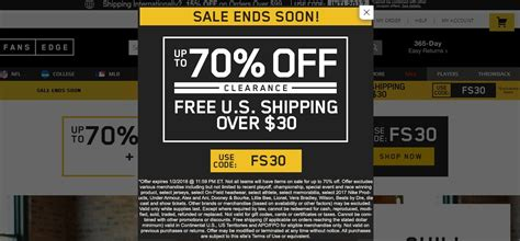 fans edge free shipping code 75 fansedge coupon code fansedge 2018 promo codes
