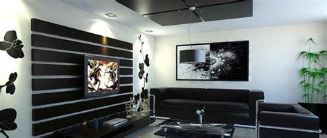 decoracion de salas living blanco  negro  artesydisenos