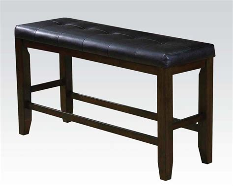 tall bench counter height bench urbana espresso by acme ac74634