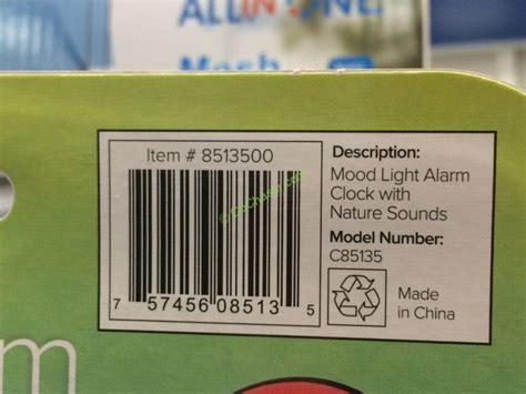 la crosse technology mood light alarm clock costco 8513500 la crosse mood light color lcd alarm clock