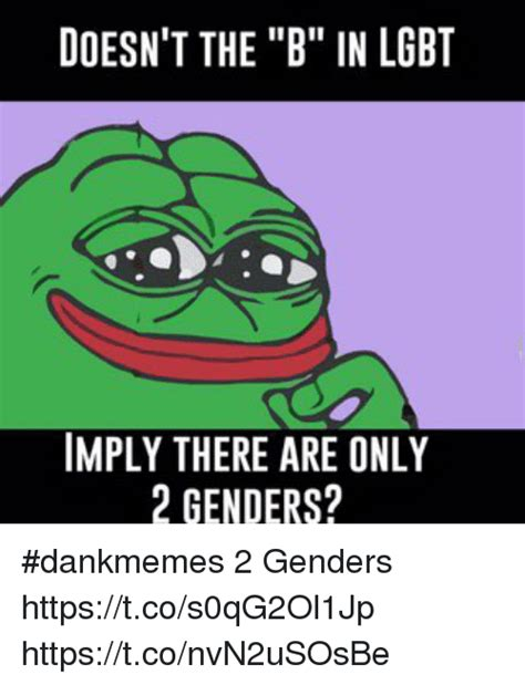 Lgbt Meme - doesn t the b in lgbt imply there are only 2 genders