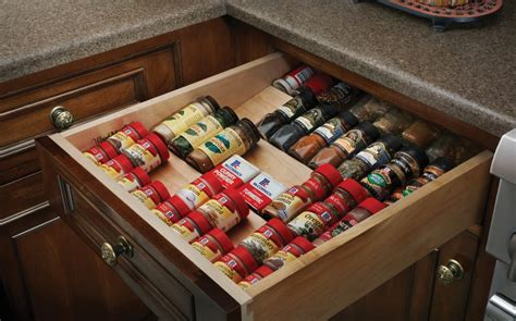 Kitchen Drawer Inserts For Spices five smart kitchen storage suggestions cabinets and drawers home designs project