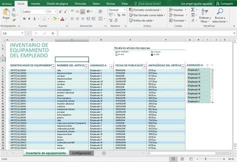 Plantilla Para Inventarios Personales   plantillas excel control de inventario negocio hogar bs