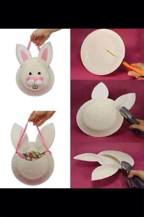 Easter Bunny Paper Plate Craft - easter bunny paper plate craft samc crafts ideas