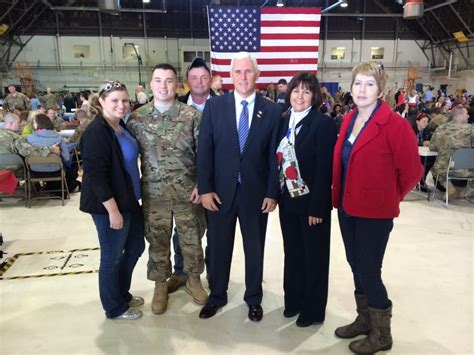 Me and daughter and son law with govern Mike pence   Yelp