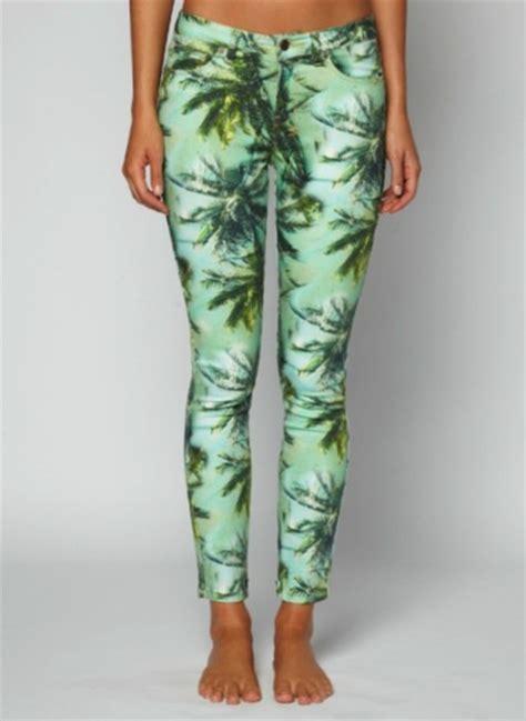 tropical pattern leggings pants tropical leggings printed leggings tropical