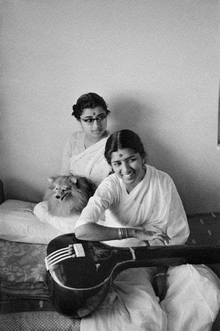 Lata Mangeshkar at home (1959) When I play her songs on