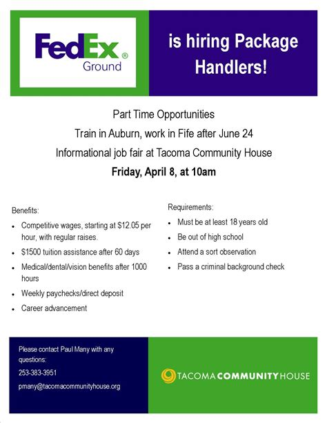 Fedex Background Check Fedex Fair Tacoma Community House
