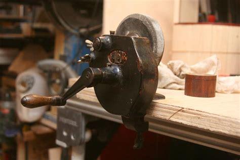 hand bench grinder hand powered vintage bench grinder restore by mafe
