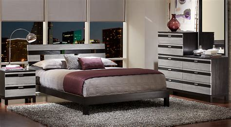 bedroom sets gardenia silver 5 pc king platform bedroom king bedroom