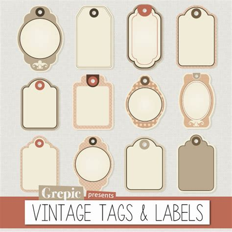 gift tags vintage clipart finders items similar to labels clipart pack quot vintage tags