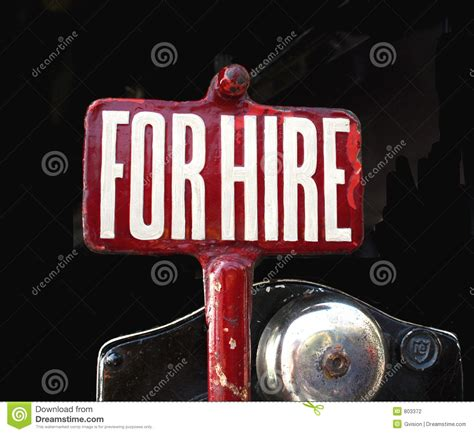 For Hire Sign Stock Photography Image 803372