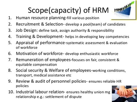 Scope Of Mba In Human Resource Management In Pakistan by Human Resource Management Ppt