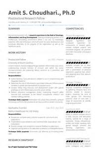 Resume Template Of South Carolina Stagiaire Postdoctoral Exemple De Cv Base De Donn 233 Es Des Cv De Visualcv
