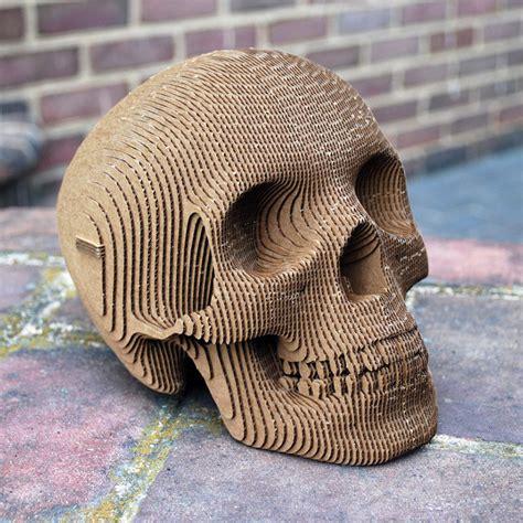 Build It Yourself Laser Cut Cardboard Human Skulls Geekologie Laser Cut Skull Template