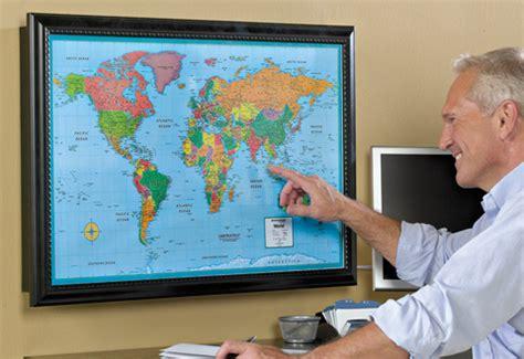 lighted world travel map  sharper image