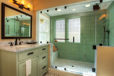 Mission Style Bathroom Donner Pass Whole House Remodel Craftsman Bathroom Sacramento By Landmark Builders