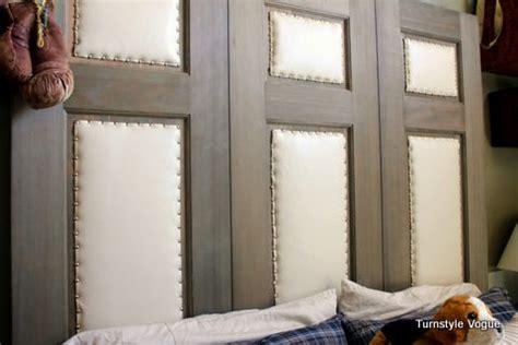 closet door headboard wood and leather headboard home pinterest