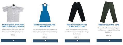 Pasaran Seragam Sekolah matarishop baju sekolah bebas kedut dengan harga