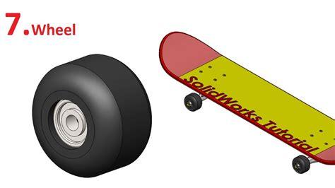 tutorial solidworks wheel solidworks tutorial skateboard 7 wheel youtube