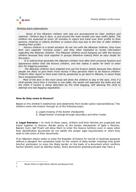 child observation report sle observation report exploitation of albanian children in