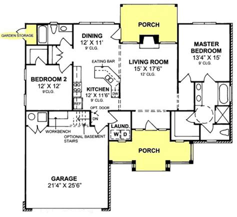 Design Basics Two Story Home Plans 655843 Country Farmhouse 2 Bedroom 2 Bath With Split