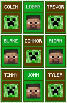 five themes of geography minecraft free printable minecraft gift bags templates google