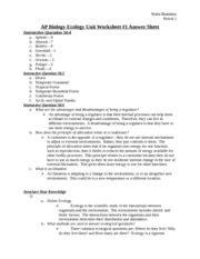 ap biology ecology unit worksheet 1 answer sheet nisha