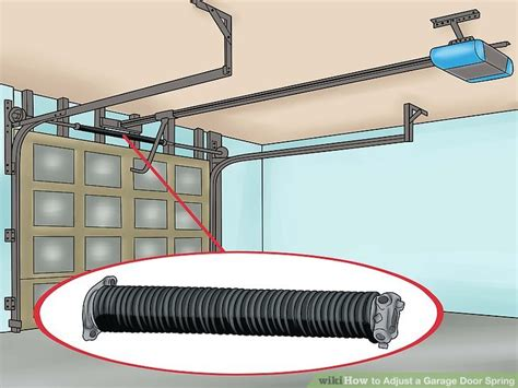 How To Adjust A Garage Door Spring With Pictures Wikihow Tightening Garage Door Springs