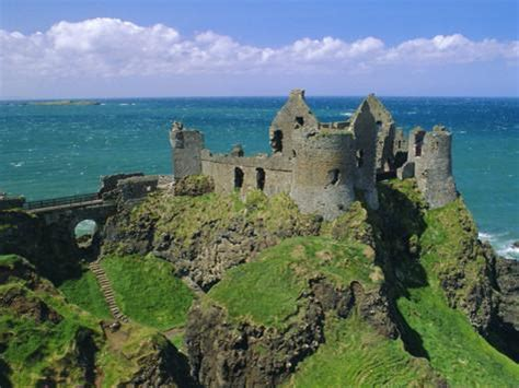 Address Finder Northern Ireland Dunluce Castle On Rocky Coastline County Antrim Ulster Northern Ireland Uk Europe