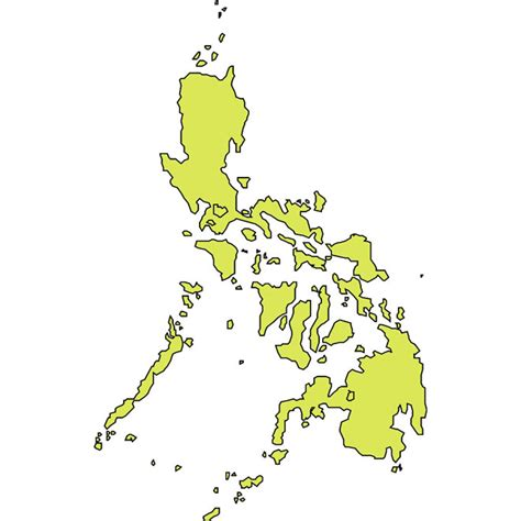 Phillipines Search Outline Vector Map Of Philippines At Vectorportal