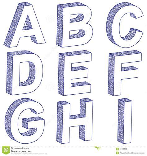 imagenes en 3d letras letra a i do desenho 3d ilustra 231 227 o do vetor imagem de