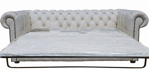 White Sofa Bed Uk Buy Chesterfield Sofa Bed In White Leather 3 Seater