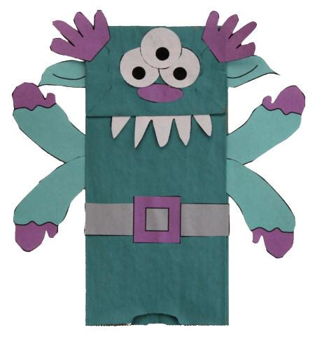 Paper Bag Puppets - paper bag template images