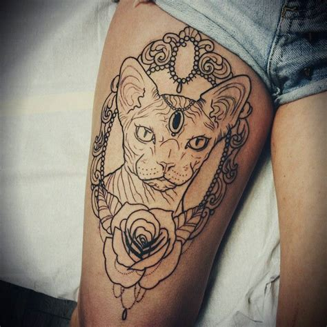 tattoo bald cat best 25 sphynx cat tattoo ideas on pinterest sphinx