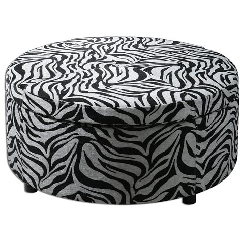 round zebra ottoman 17 zebra living room decor ideas pictures
