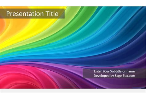 colourful powerpoint templates colorful stripes powerpoint template free colorful