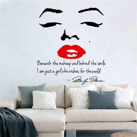adesivi per pareti da letto decalcomanie della parete labbra adesivi murali