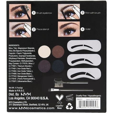 Nyx Eyebrow Kit With Stencil nyx eyebrow kit with stencils for everyone