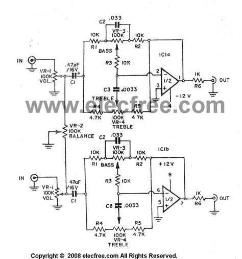 4558 tone circuit diagram circuit diagram of ic ka 4558 as a line in audio