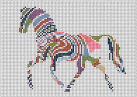 name pattern for cross stitch rainbow horse cross stitch pattern by motherbeedesigns