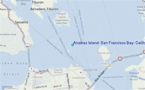 san francisco islands map alcatraz island san francisco bay california tide