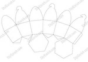 cupcake template diy paper cupcake box stencil for free