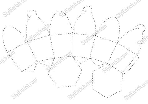 cupcake template diy paper cupcake box stencil for free