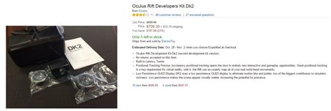 amazon oculus rift say bye bye to oculus rift dk2 no more available for