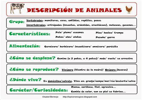 imagenes animales para describir lapicero m 193 gico descripci 243 n de animales