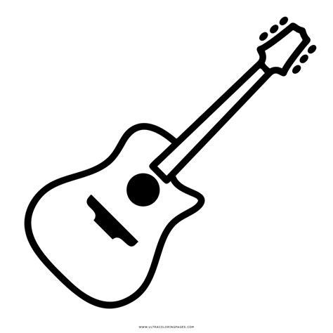 Collection of Dibujos Para Colorear Guitarras | Guitarra Acustica ...